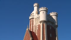 Architecture, casa loma stables detail Stock Footage