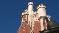 Architecture, casa loma stables detail more Stock Footage