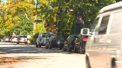 Toronto neighbourhood - Forest Hill zoom from traffic Stock Footage