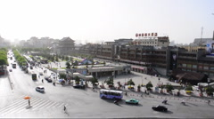 Downtown Traffic in china Stock Footage
