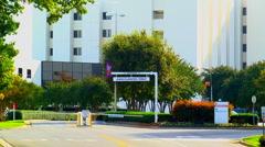 Hospital emergency room entrance Stock Footage
