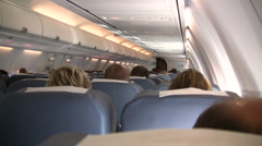 Interior Commercial Plane Stock Footage