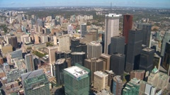 Aerial, Toronto financial district, wide shot Stock Footage