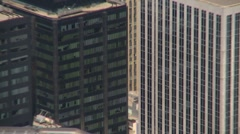Aerial, Toronto financial district zoom Stock Footage