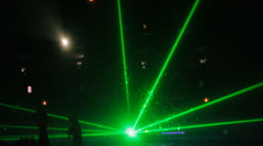 Laser lazer music event disco club festival lights neon led Stock Footage