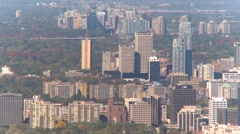 Aerial, Toronto distant urban sprawl Stock Footage