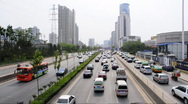 Stock Video Footage of downtown Traffic in china