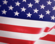 Slow Motion American Flag Intro PAL Stock Footage