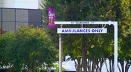 Stock Video Footage of ambulance clearance sign
