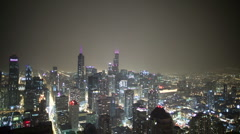 Chicago w/ lightning Stock Footage