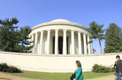 Jefferson Memorial Timelapse Washington DC Stock Footage