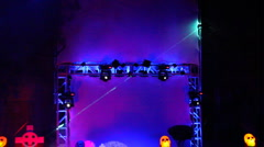 Laser beam light show in various colors shooting by - 2 Stock Footage