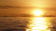 Golden Sparkling Ocean Sunrise - stock footage