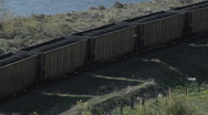 Coal Train CU end engine Stock Footage