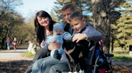 Family and cat Stock Footage