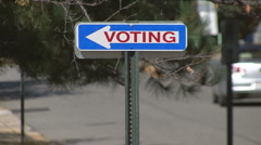 Vote - Election Poll Sign Stock Footage