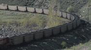 Coal Train Curve Engine Stock Footage