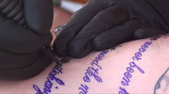 Tattoo Stock Footage