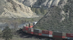 Container Train MCU double curve Stock Footage