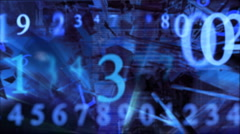 Numbers which are blown away  in the air6 Stock Footage
