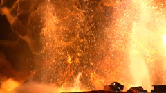 Volcano outbursts Stock Footage