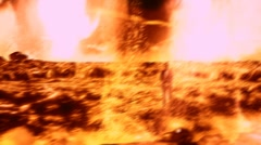 The man who is in the lava Stock Footage