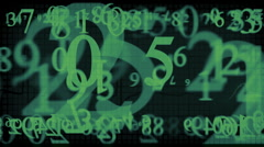 numbers which are blown away in the air3 Stock Footage