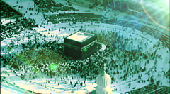 circumambulation of the kaaba - stock footage