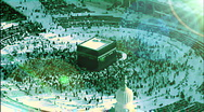 Stock Video Footage of circumambulation of the kaaba