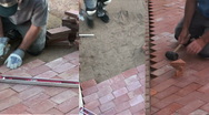 Paver Laying Sequence Stock Footage