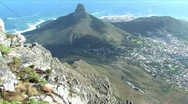 Stock Video Footage of Table Mountain in Cape Town South Africa