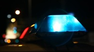 Stock Video Footage of Flashing police and fire lights