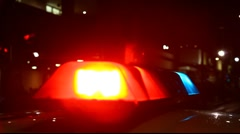Flashing police and fire lights Stock Footage