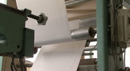 Automated paper bag making machine Stock Footage
