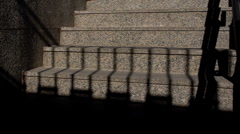 Stairs covered by shadows Stock Footage