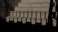 Stock Video Footage of Stairs covered by shadows