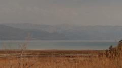 Dead sea coastline retract P1 Stock Footage