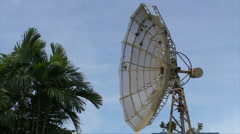 HD Corroding Obsolete / Destroyed Satellite Dish 03 - stock footage