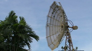 Stock Video Footage of HD Corroding Obsolete / Destroyed Satellite Dish 03