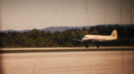 Mohawk Airlines DC3 landing circa 1954 Stock Footage