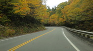 Driving through Dixville Notch, New Hampshire Stock Footage