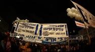 15 years memorial after Rabin assassination in Tel Aviv, Israel Stock Footage