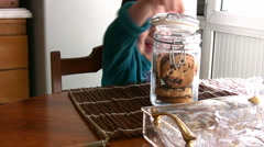 Chocolate chip cookies  Full HD 1080p Stock Footage