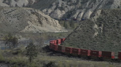 Container Train MS double curve - stock footage