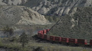 Stock Video Footage of Container Train MS double curve