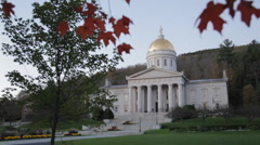 Vermont capitol building at dusk, Montpelier Stock Footage