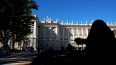 Madrid, Real palace Stock Footage