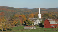 Rural northern Vermont autumn Stock Footage