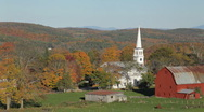 Stock Video Footage of Rural northern Vermont autumn