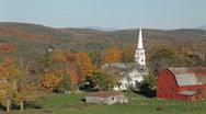 Rural northern Vermont autumn Stock Footage